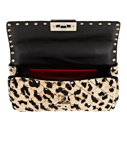 57eb7c9384c Women's Brown Rockstud Spike Small Calf Hair Shoulder Bag