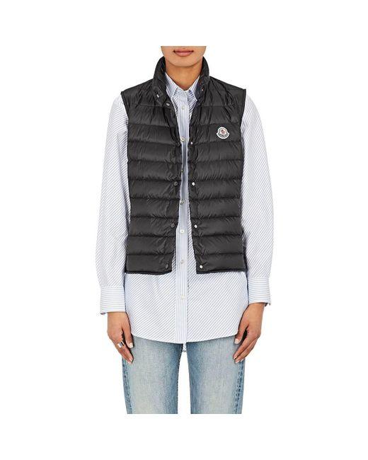 223bf5905 Lyst - Moncler Lliane Down Tech-taffeta Vest in Black