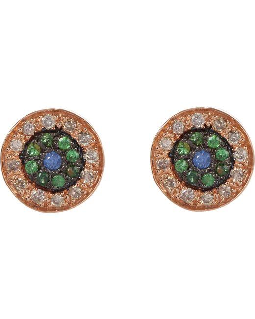 Ileana Makri - Multicolor Multi Gemstone & Pink Gold no Tears Studs - Lyst