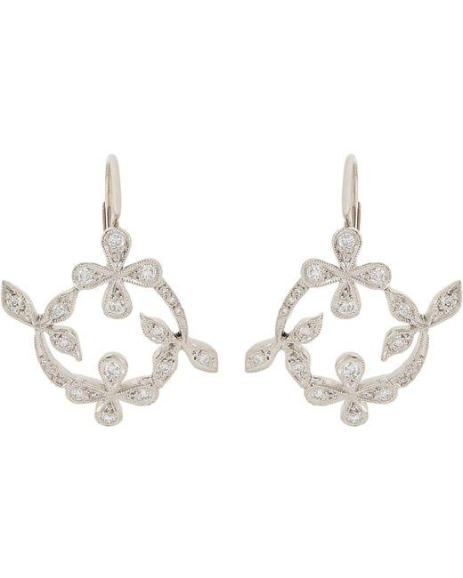 Cathy Waterman | Metallic Lace Drop Earrings | Lyst