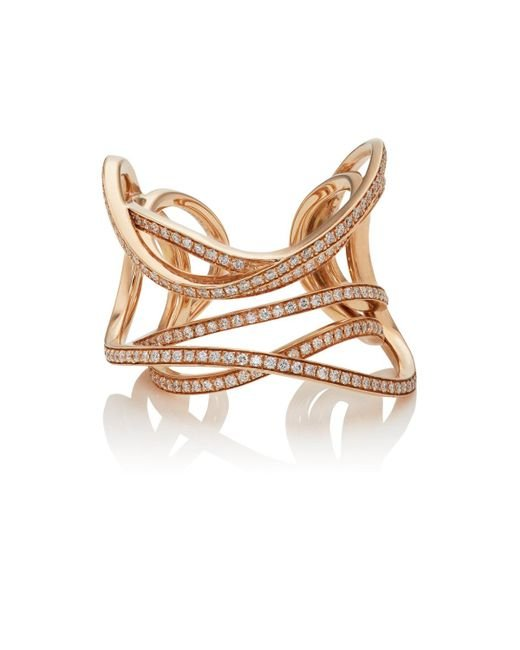 Dauphin - Metallic Serpentine Cuff Ring - Lyst