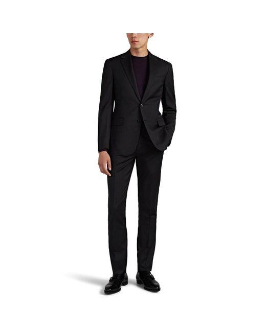 Ralph Lauren Purple Label Multicolor Douglas Worsted Wool Two-button Suit for men
