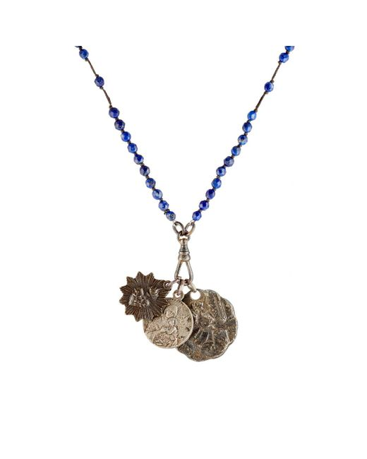 Miracle Icons | Blue Beaded Pendant Necklace | Lyst