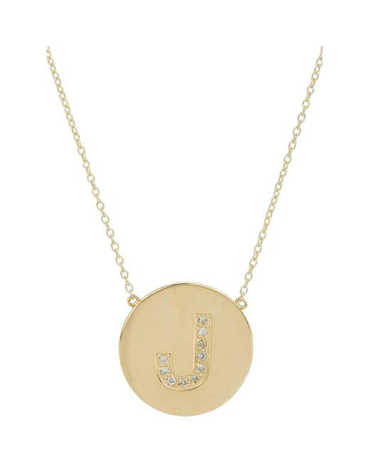 Jennifer Meyer   Metallic Initial Pendant Necklace   Lyst