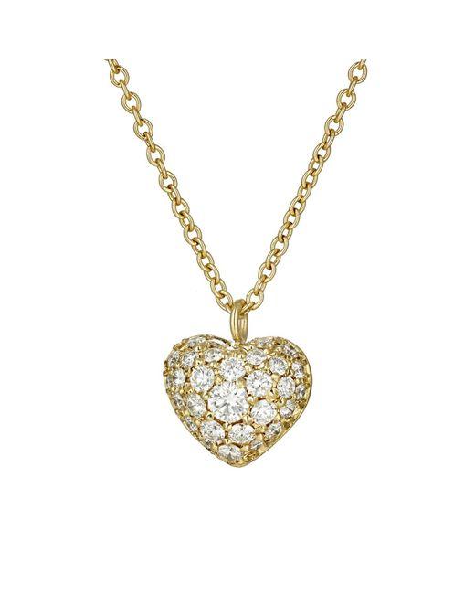 Finn   Metallic Puffed Heart Pendant Necklace   Lyst
