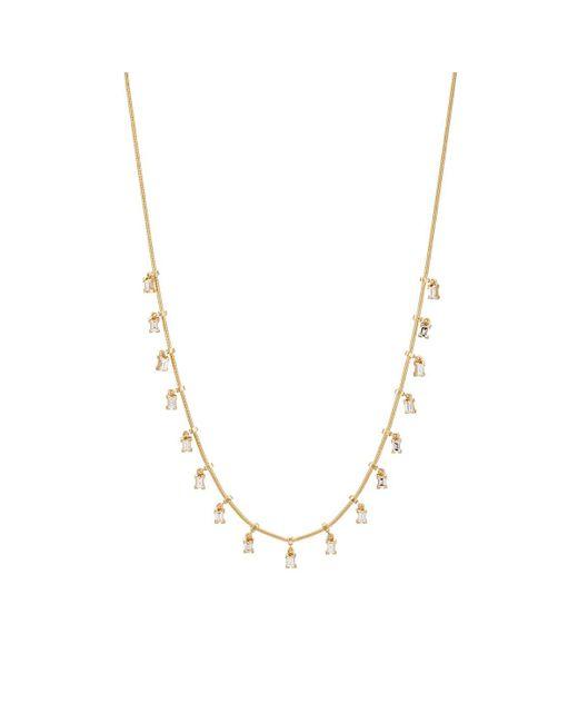 Ileana Makri Metallic Baguette Fringe Necklace