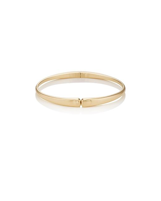 Jennifer Meyer | Metallic Long Dome Hinged Bangle | Lyst