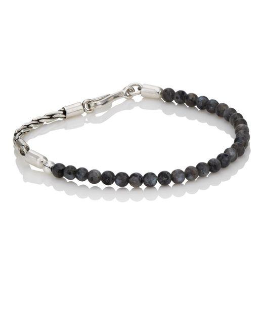 Caputo & Co. - Black Labradorite Beaded Bracelet for Men - Lyst