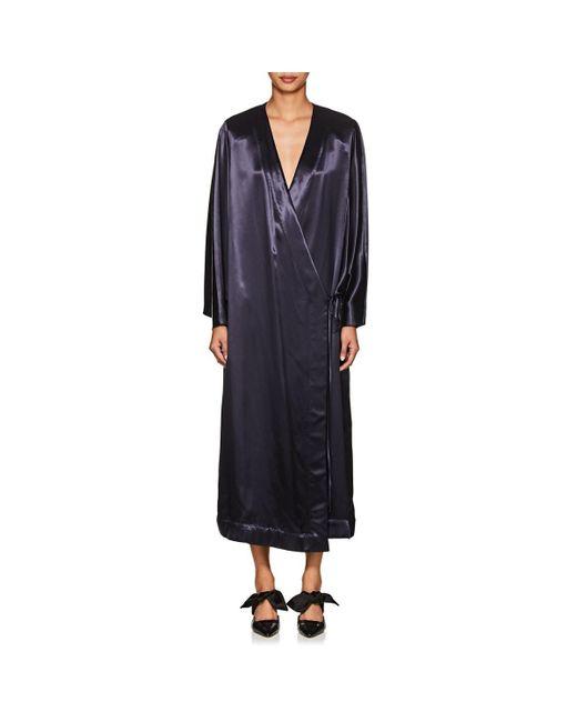 The Row - Blue Impu Satin Kimono Jacket - Lyst
