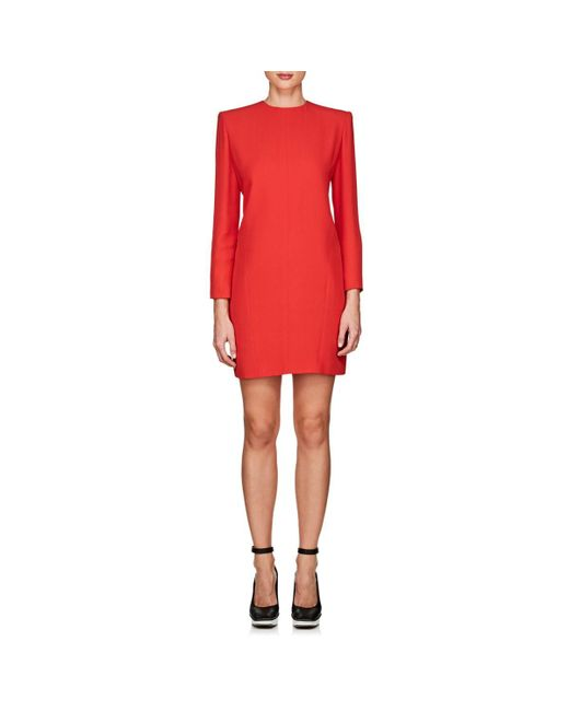 Givenchy - Red Crepe Shift Dress - Lyst