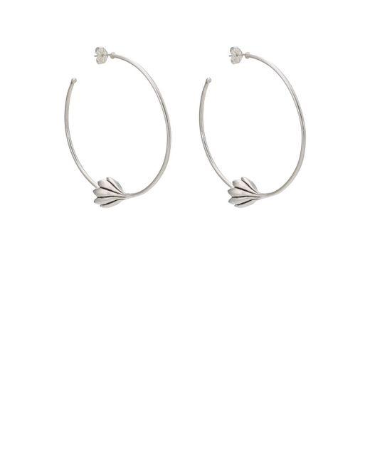 Pamela Love - Metallic Anemone Hoop Earrings - Lyst