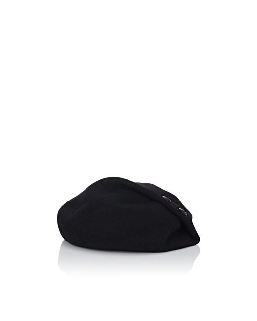 CA4LA - Black Rochelle Wool Beret for Men - Lyst