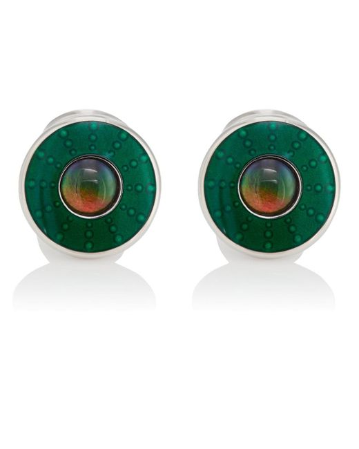 Barneys New York - Green Ammolite & Enamel Cufflinks for Men - Lyst