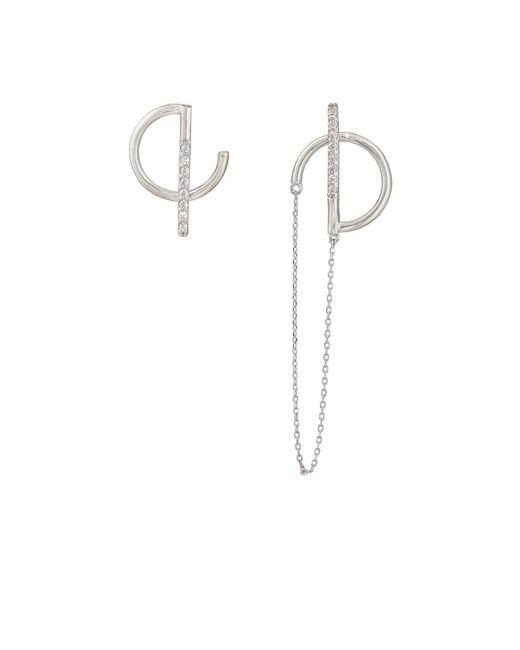 VIOLA.Y JEWELRY - Metallic Asymmetric Earring - Lyst