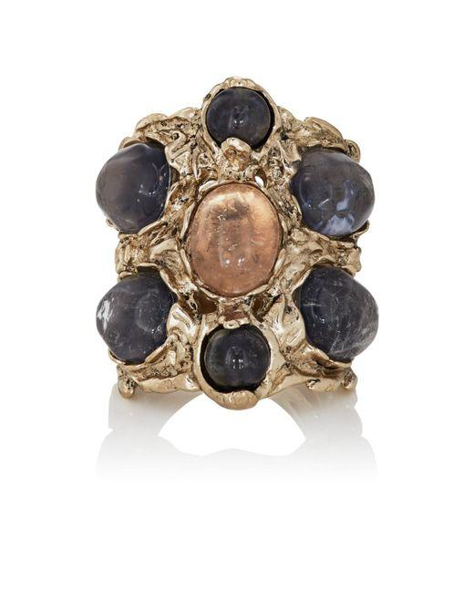 Goossens Paris Metallic Iolite Ring