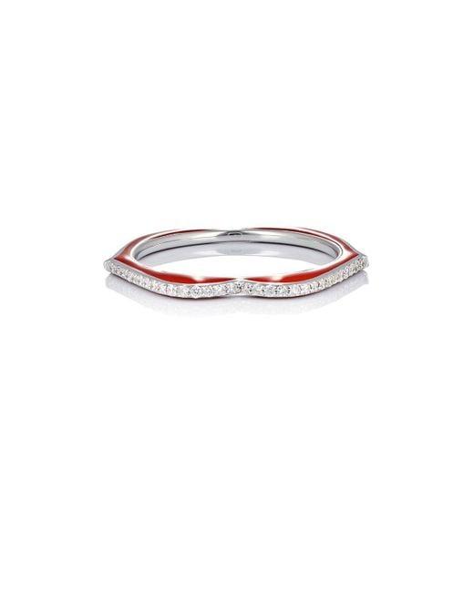 Raphaele Canot   White Omg! Thin Lips Ring   Lyst