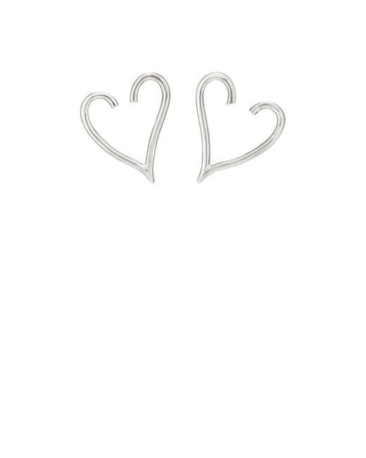 Jennifer Fisher | Metallic Small Heart Stud Earrings | Lyst