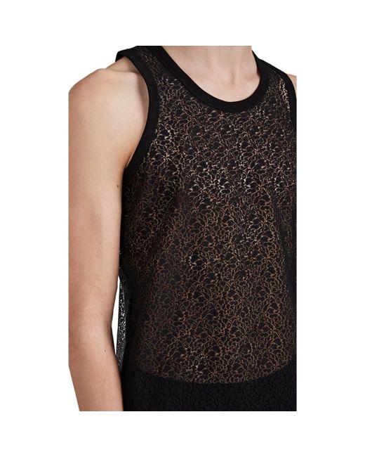9514e3750ef82 ... Helmut Lang - Black Cotton-blend Lace Tank Top for Men - Lyst