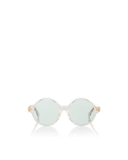 Céline Green Oversized Round Sunglasses
