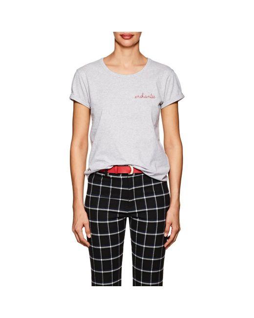 Maison Labiche - Gray enchantée Cotton T-shirt - Lyst