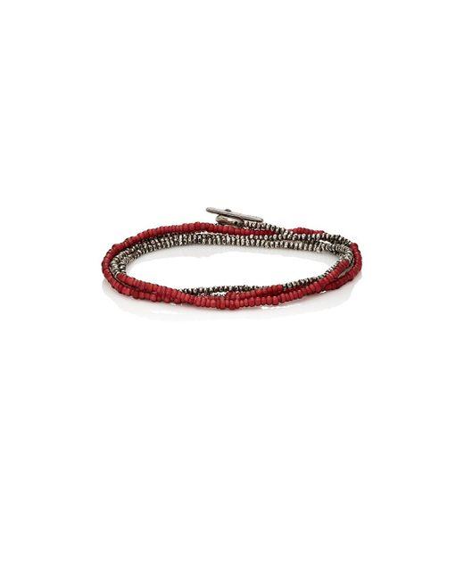 M. Cohen   Red Horizon Wrap Bracelet   Lyst