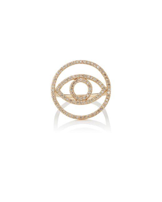 Ileana Makri - Metallic Evil Eye White Diamond Ring - Lyst