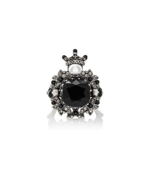 Alexander McQueen | Black House Of Skull Brass Ring | Lyst