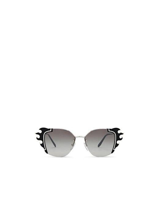 4e6c01de978 Prada - White Flame Sunglasses - Lyst ...