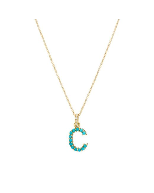 Jennifer Meyer - Metallic c Pendant Necklace - Lyst