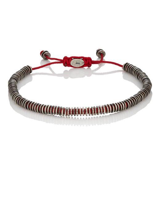 M. Cohen - Red Mixed-rondelle Bracelet for Men - Lyst