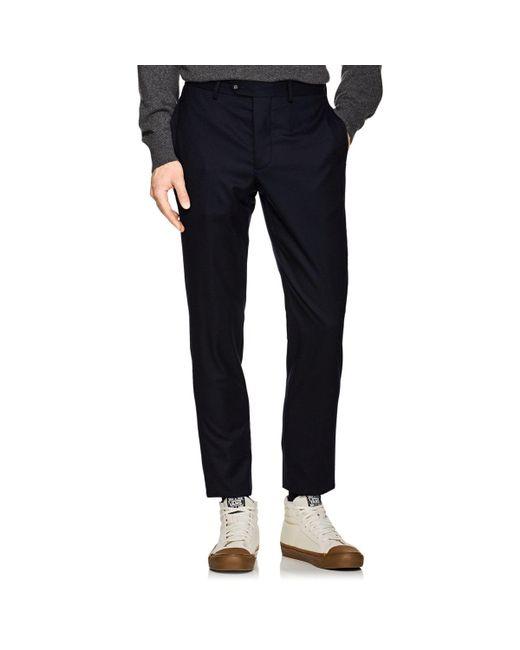 Officine Generale - Blue Wool Classic Trousers for Men - Lyst