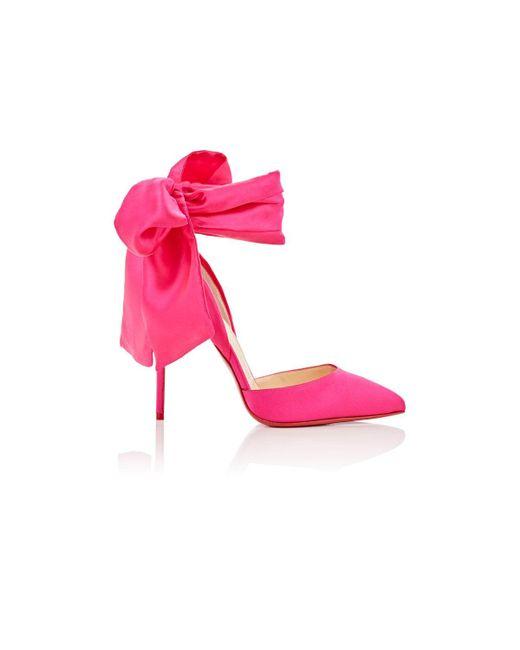 Christian Louboutin | Pink Douce Du Desert Satin Pumps | Lyst