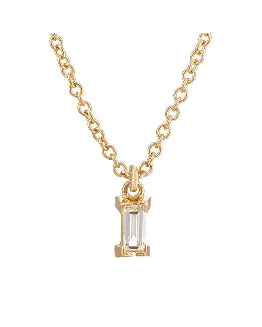 Ileana Makri - Metallic Baguette White Diamond Pendant Necklace - Lyst