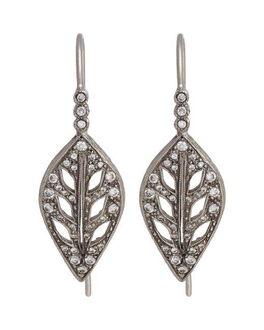 Cathy Waterman | Metallic Leaf Drop Earrings | Lyst