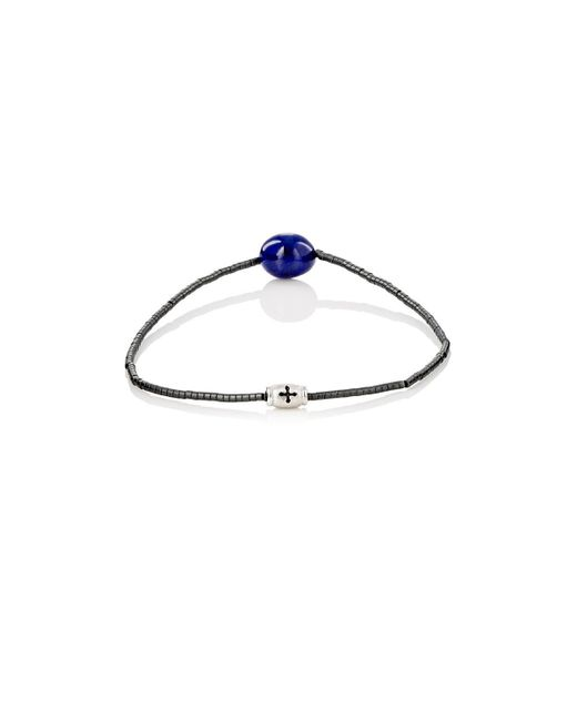 Luis Morais - Blue Lapis Lazuli & Tube-bead Bracelet for Men - Lyst
