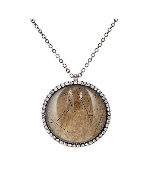 Roberto Marroni | Metallic Gemstone Pendant Necklace | Lyst