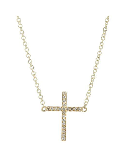 Jennifer Meyer | Metallic Diamond Mini Cross Necklace | Lyst