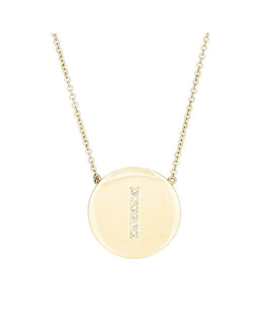 Jennifer Meyer | Metallic Initial Pendant Necklace | Lyst