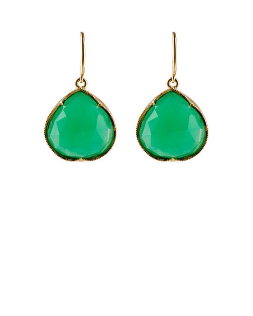 Irene Neuwirth | Green Gemstone Teardrop Earrings | Lyst
