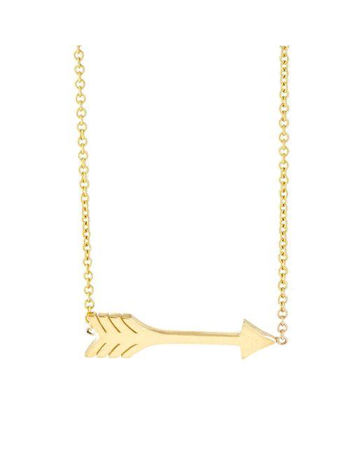 Jennifer Meyer | Metallic Arrow Pendant Necklace | Lyst