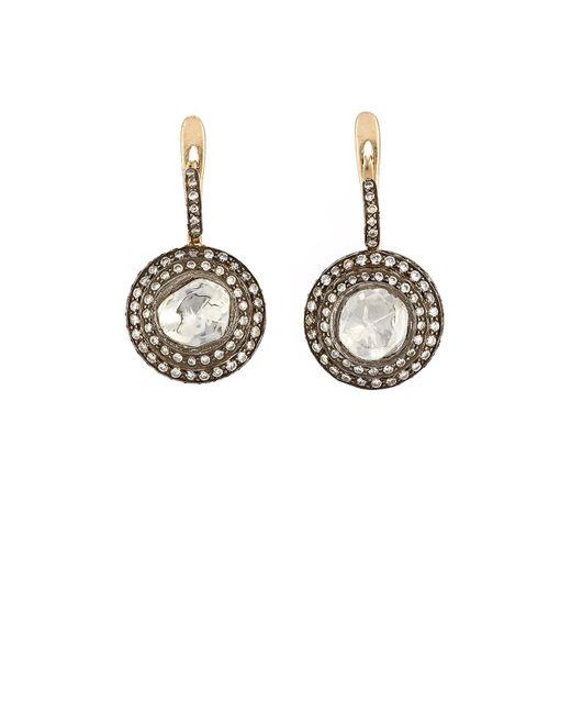 Munnu | Metallic Diamond Drop Earrings | Lyst