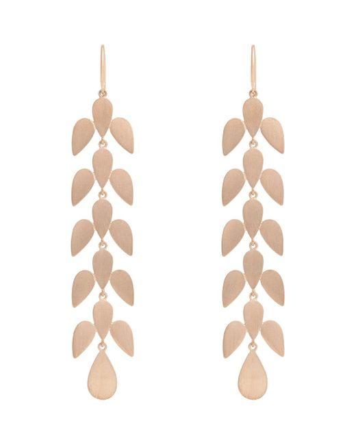 Irene Neuwirth   Metallic Rose Gold Leaf Motif Earrings   Lyst