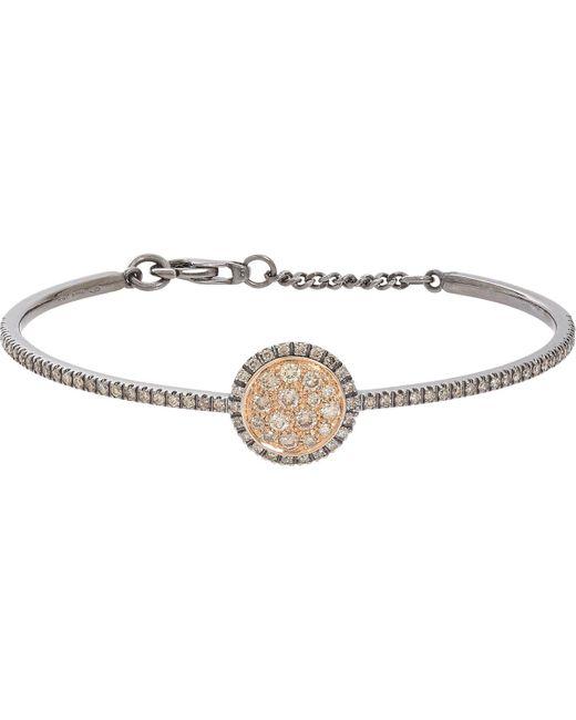 Roberto Marroni | Metallic Brown Diamond, Oxidized White Gold & Pink Gold Bracelet | Lyst