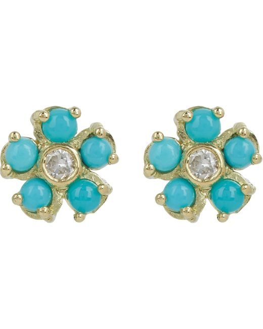 Jennifer Meyer | Blue Flower Studs | Lyst