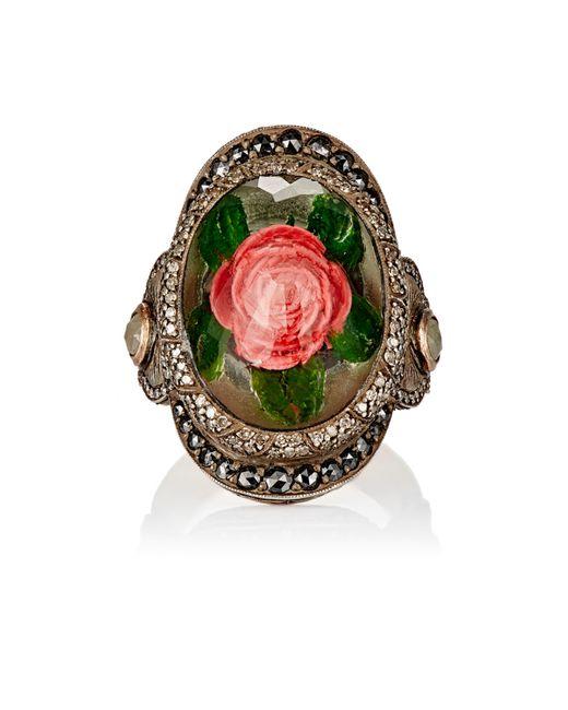 Sevan Biçakci | Green Rose Intaglio Ring | Lyst