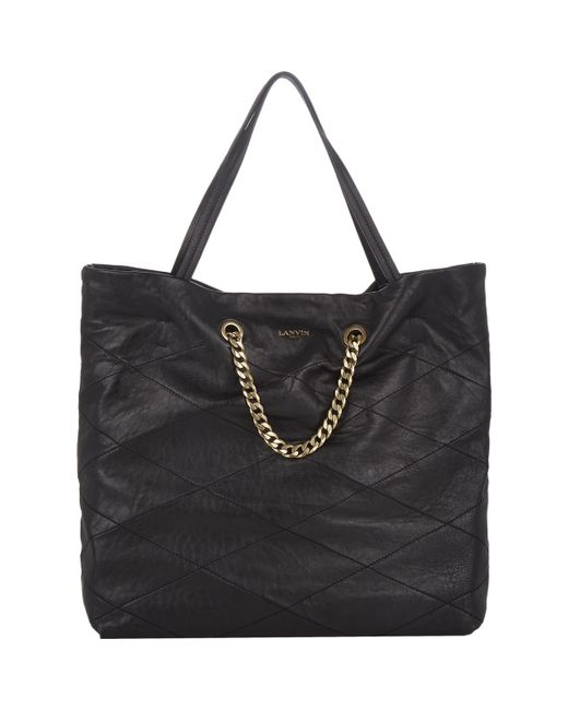 Lanvin | Black Carry Me Tote | Lyst
