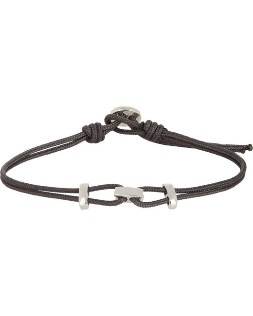Zadeh | Black Sterling Silver & Parachute Cord Bracelet for Men | Lyst