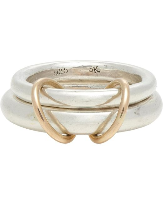 Spinelli Kilcollin | Metallic Sterling Silver & Rose Gold virgo Ring for Men | Lyst