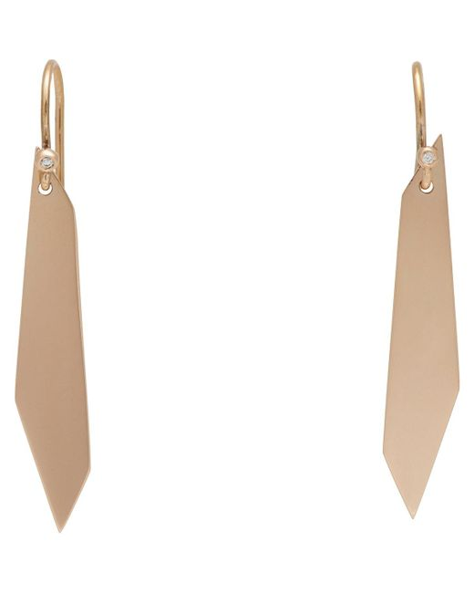 Monique Péan | White Diamond & Rose Gold signature Geometric Drop Earrings | Lyst