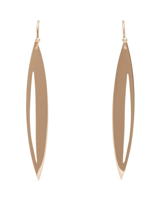 Monique Péan | White Rose Gold navette Earrings | Lyst